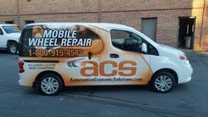 Van Wrap Graphics Wheel Repair ZSAC