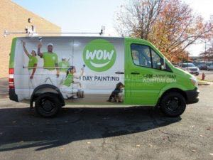 Van Wrap Graphics Wow 1 Day Painting Sprinter Franchise WOW