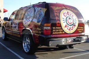 Vehicle Wraps Graphics Vinyl Fleet Large Format Car Suv Chevrolet Suburban Ccp BackDriver
