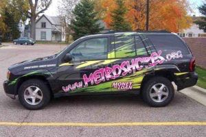 Vehicle Wraps Graphics Vinyl Fleet Large Format Car Suv Chevy Chevrolet Gm Trailblazer Creit Union Financial Msc Driver