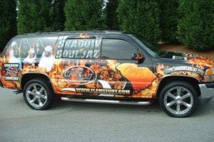 Vehicle Wraps Graphics Vinyl Fleet Large Format Car Suv Chevy Chevrolet Suburban Record Label Fnf Promotion Passenger