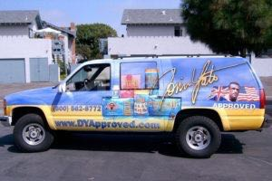 Vehicle Wraps Graphics Vinyl Fleet Large Format Car Suv Chevy Suburban Dya Driver