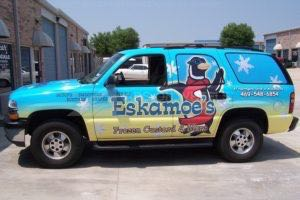 Vehicle Wraps Graphics Vinyl Fleet Large Format Car Suv Chevy Tahoe Esk Driver