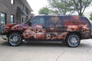 Vehicle Wraps Graphics Vinyl Fleet Large Format Suv Chevy Chevrolet Suburban Usa Driver