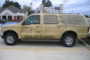 Vehicle Wraps Graphics Vinyl Fleet Large Format Suv Ford Excursion Ups Driver