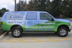 Vehicle Wraps Graphics Vinyl Fleet Large Format Suv Ford Excursion Ups Passenger