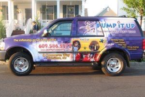 Vehicle Wraps Graphics Vinyl Fleet Large Format Suv Ford Expedition Piu Nc Pump It Up Driver