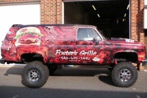 Vehicle Wraps Graphics Vinyl Fleet Large Pickup Pick Up Chevy Chevrolet Suburban Fos Passenger