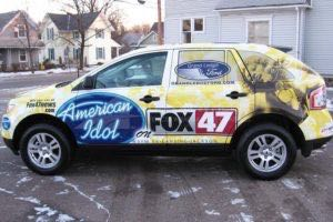 Vehicle Wraps Graphics Vinyl Fleet Suv Ford Escape American Idol Driver